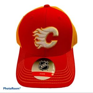 🧢 New Kids Calgary flames 🔥 Cap Velcro Back